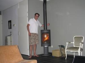 Brandende-kachel